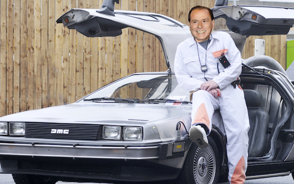 Outside Bolton indoor market  Back to the Future Delorean as part of the breakfast show  and of Comic Relief. Owner is 'Doc', Clive Priest  Picture by Richard Holton Newsquest(Bolton) ltd Copyright 12th March, 2015 Vickie Scullard